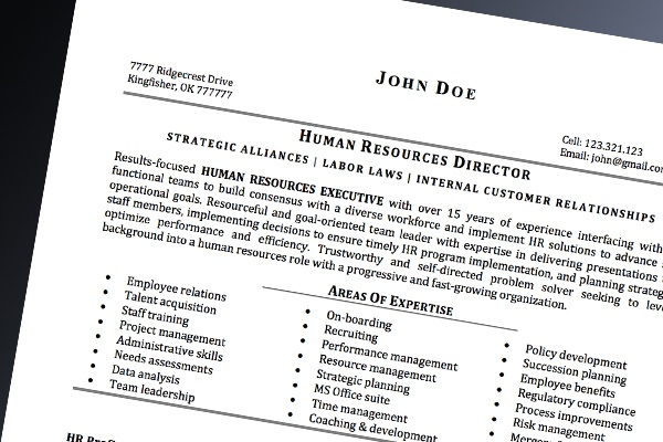 professional resume development
