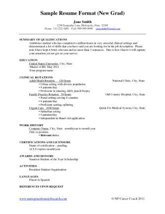 new grad nurse resume example samples for new graduates