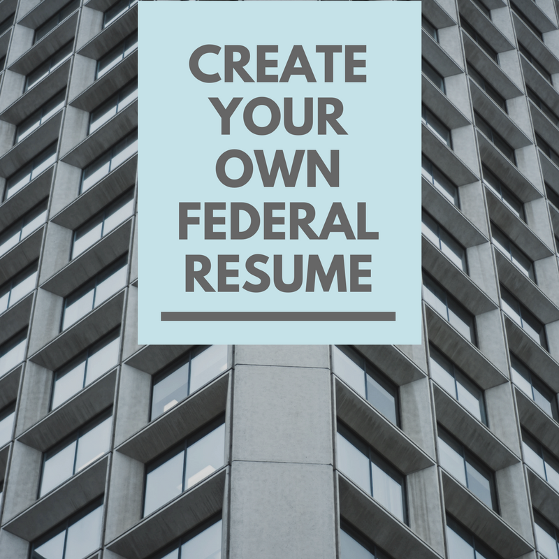 Create your own federal resume picture